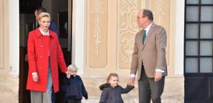 Fürstin Charlène, Jaques, Gabriella und Fürst Albert II. von Monaco