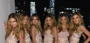 Heidi Klum mit fünf Klonen an Halloween