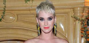 Katy Perry bei einem Event für Jeremy Scott im August 2017, Frisur, Haare