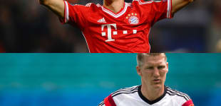 Mesut Özil, Thomas Müller, Bastian Schweinsteiger und Mario Götze