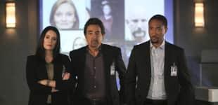 Paget Brewster, Joe Mantegna und Damon Gupton