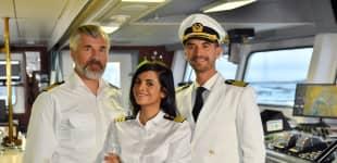 """""""Das Traumschiff"""" auf den Malediven mit Daniel Morgenroth, Collien Ulmen-Fernandes und Florian Silbereisen am Ostersonntag im April 2021"""