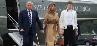 Donald, Melania und Barron Trump im August 2020