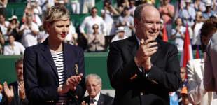 Fürst Albert Fürstin Charlène Monte Carlo Tennis Masters