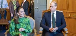 Herzogin Kate Prinz William Irland grün Outfit