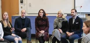 Herzogin Kate Prinz William Mette-Marit Prinz Haakon Hartvig Nissens School Oslo