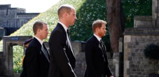 Peter Philips, Prinz William und Prinz Harry