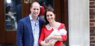 Prinz William und Herzogin Kate mit ihrem neugeborenen Sohn Prinz Louis