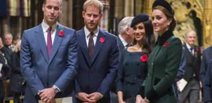 Prinz William, Prinz Harry, Herzogin Meghan und Herzogin Kate