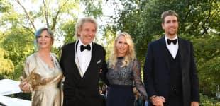 Thomas Gottschalk mit seiner Ehefrau Thea und seinem Sohn Roman in Begleitung seiner Freundin