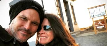 Holly Marie Combs posted this cute photo of her with her fiancé Mike
