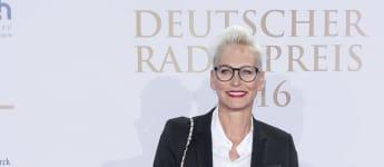 Moderatorin Bärbel Schäfer beim Deutschen Radiopreis in Hamburg