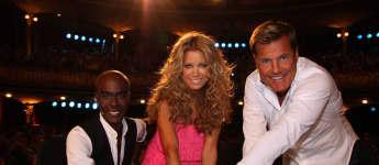 """Die """"Supertalent"""" Jury Bruce Darnell, Sylvie Meis und Dieter Bohlen"""