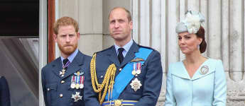 Duchess Catherine, Prince Harry and Prince William