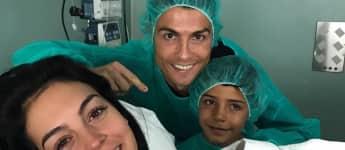 Cristiano Ronaldo und seine Freundin Georgina sind Eltern geworden