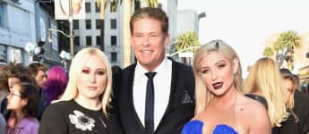 "Taylor Ann Hasselhoff, David Hasselhoff, und Hayley Hasselhoff bei der Premiere zu ""Guardians of the Galaxy Vol. 2"""