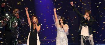 Die DSDS-Finalisten Alphonso, Maria, Duygu und Alexander