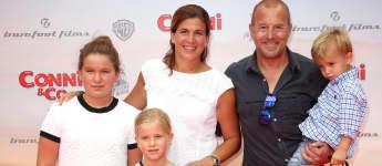 Heino Ferch mit seiner Frau Marie Jeanette und den gemeinsamen Kindern