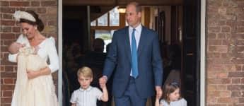 Die britische Königsfamilie bei der Taufe von Prinz Louis