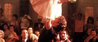 """Jennifer Grey und Patrick Swayze bei ihrer legendären Hebefigur aus """"Dirty Dancing"""""""