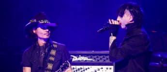 Schauspieler Johnny Depp und Schock-Rocker Marilyn Manson bei einem gemeinsamen Auftritt