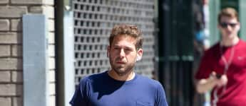 """The Wolf of Wall Street""-Darsteller Jonah Hill bei einem Spaziergang in New York"