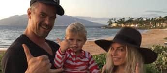 Josh Duhamel mit Frau Fergie und Sohn Axl