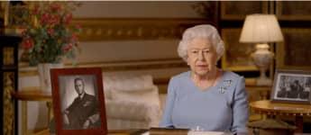 """Königin Elisabeth II. während ihrer Rede zum """"Remembrance Day"""""""