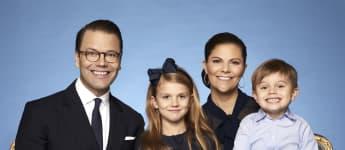 Die schwedische Königsfamilie Prinz Daniel, Prinzessin Estelle, Kronprinzessin Victoria und Prinz Oscar