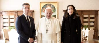 Kronprinz Frederik, Papst Franziskus und Kronprinzessin Mary