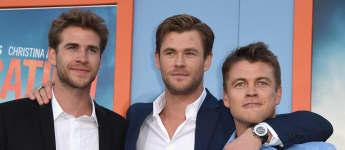 Die drei Hemsworth-Brüder: Liam Hemsworth, Chris Hemsworth und Luke Hemsworth
