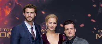 """Tribute von Panem"" Liam Hemsworth Jennifer Lawrence John Hutchserson"
