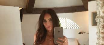 Megan Fox ultra sexy weißen Spitzenbody Dessous