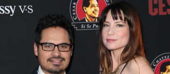 Narcos Mexico Michael Peña Frau ; Michael Peña und Brie Shaffer