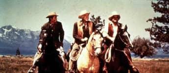 "Michael Landon, Lorne Greene und Dan Blocker aus ""Bonanza"" 1969"