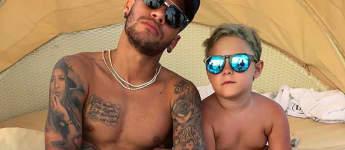 Neymar und Sohn David Lucca