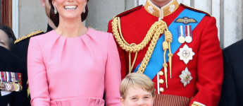 Prinz George, Prinzessin Charlotte, Prinz William und Herzogin Catherine bei der Trooping the Colour Parade