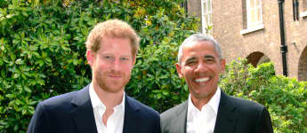 Barack Obama besuchte Prinz Harry in London
