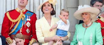 Prinz William; Herzogin Kate; Prinz Louis; Prinz George; Prinzessin Charlotte; Herzogin Camilla