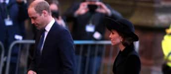 Prinz William und Herzogin Kate beim Gedenkgottesdienst für den sechsten Herzog von Westminster