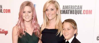 Reese Witherspoon und ihre Kinder Ava und Deacon strahlen