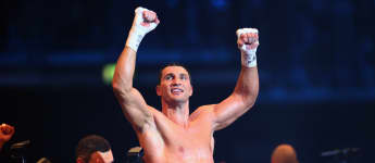 Der ukrainische Weltmeister Wladimir Klitschko bei einem Kampf 2013