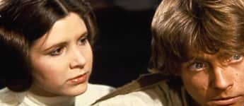 """Prinzessin Leia"" (Carrie Fisher) und ""Luke Skywalker"" (Mark Hamill) aus ""Star Wars"""