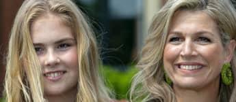 Prinzessin Amalia mit Königin Máxima der Niederlande