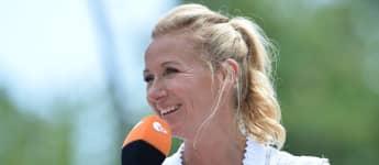 "Andrea Kiewel beim ""ZDF Fernsehgarten"" 2018"