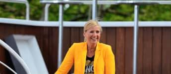 Andrea Kiewel als Moderatorin beim ZDF Fersehgarten 2014