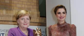 Angela Merkel Königin Rania