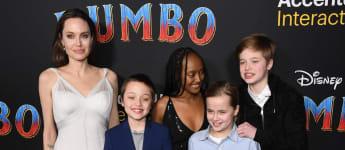 Angelina Jolie mit ihren Kindern Knox, Zahara, Vivienne und Shiloh