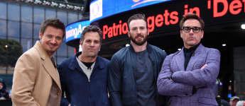 """""""Avengers""""-Darsteller Jeremy Renner, Mark Ruffalo, Chris Evans, Robert Downey Jr."""