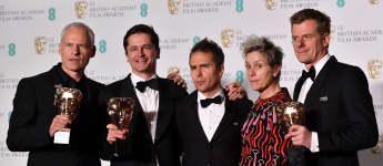 Martin McDonagh, Peter Czernin, Sam Rockwell, Graham Broadbent und Frances McDormand bei den BAFTA Awards 2018
